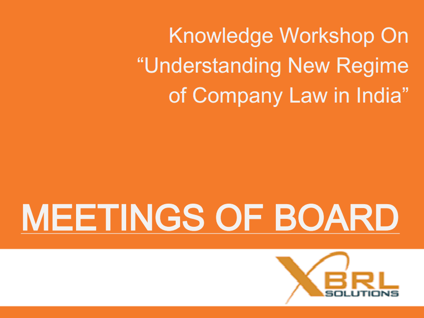 Meetings Of Board